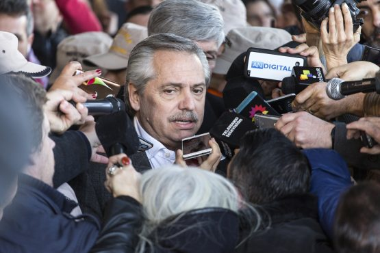 Voters gave Alberto Fernandez a 15-point lead over the weekend. Picture: Sarah Pabst/Bloomberg