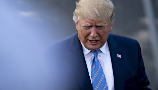 President Donald Trump said existing 25% tariffs on some $250bn in imports from China would rise to 30% come October 1. Picture: Bloomberg