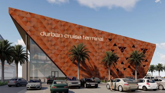 An artist's impression of the planned Durban Cruise Terminal.