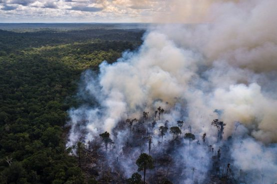 For those living in the Amazon, the smoke is intense. Picture: Dado Galdieri/Bloomberg