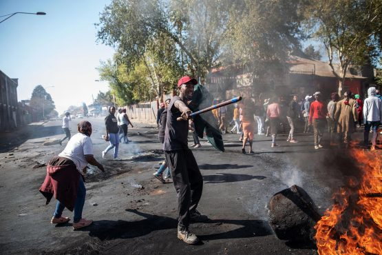 Riots against foreign nationals erupted in Pretoria and spread to Johannesburg this week where more than 50 shops and several vehicles were destroyed. Picture: Michele Spatari, AFP/Getty Images