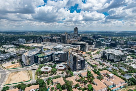 Sandton lays claim to the highest concentration of new office development in SA, but this has contributed to a rise in vacancies – which, according to Sapoa, hit 17.9% in Q3. Image: Supplied.