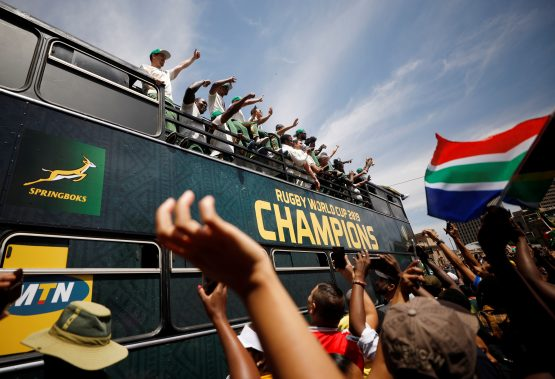 The Springboks' win has ignited a flame for the women's rugby team to win the 2021 women's World Cup. Image: Mike Hutchings, Reuters