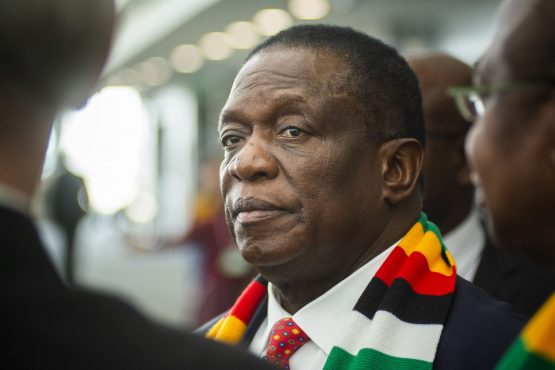Emmerson Mnangagwa at the opening day of the 28th World Economic Forum on Africa. Image: Waldo Swiegers/Bloomberg