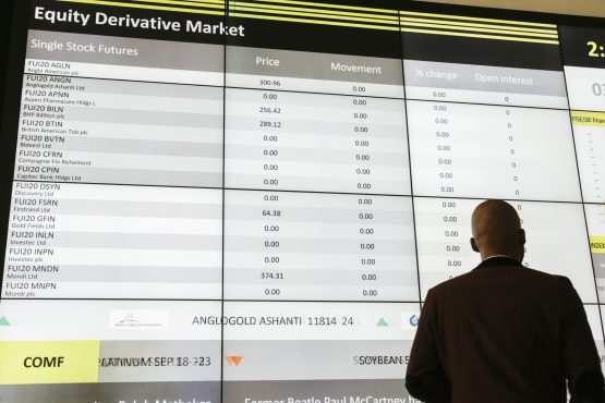 SA stocks came in for particular punishment because of their high exposure to China, source of the deadlycoronavirus outbreak, chasing investors away from riskier assets. Image: Waldo Swiegers, Bloomberg