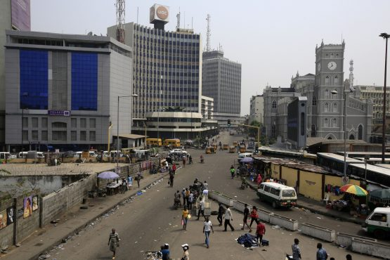 Lagos has one of the highest car densities in the world and is notorious for traffic. Image: Bloomberg