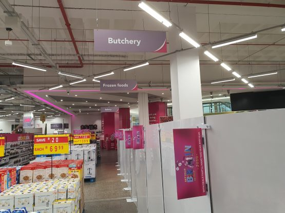 The fresh and frozen food sections are being cleared. Image, Suren Naidoo, Moneyweb.