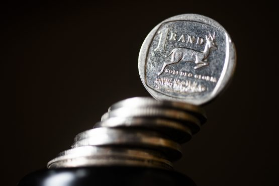 Ten years ago less than 10c of every R1 collected in tax was used to pay the interest on government debt; it's now R1 of every R4, says Absa's chief economist. Image: Bloomberg
