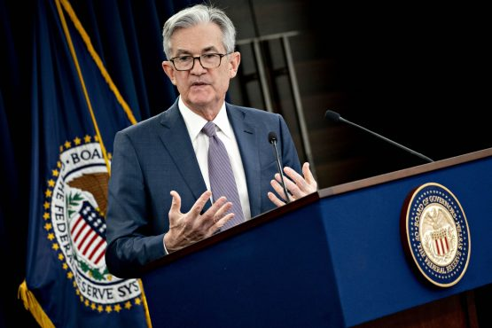Fed Reserve chairman, Jerome Powell. Image: Bloomberg
