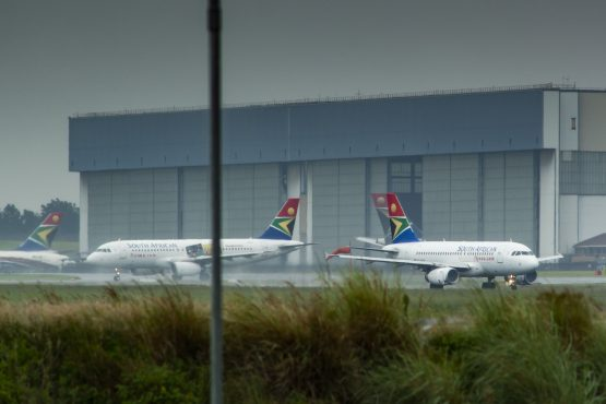 South African Airlines jets at OR Tambo International Airport. Image: Waldo Swiegers/Bloomberg