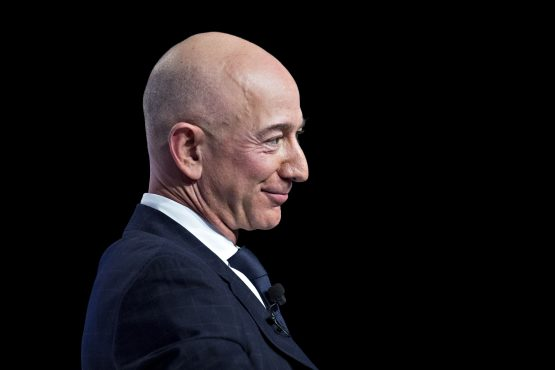 Amazon CEO Jeff Bezos speaks At Air Force Association Air, Space & Cyber Conference. Image: Bloomberg