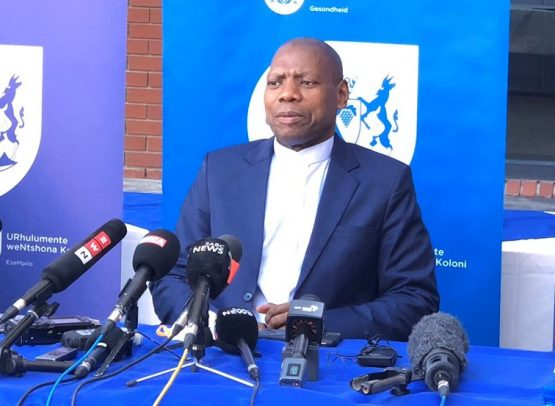 Health Minister Zweli Mkhize speaking during a briefing at the Khayelitsha Hospital in Cape Town late on Friday. He confirmed the number of Covid-19 cases in South Africa has now reached 1 505. Image: Supplied