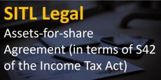 Assets-for-shares Agreement (in terms of S42 of the Income Tax Act)