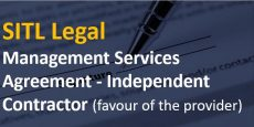 Management Services Agreement – Independent Contractor (favour of the provider)