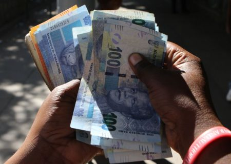 Rand strengthens, touching R16.99 to US dollar