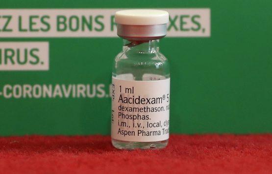 An ampoule of Dexamethasone. Image: Yves Herman, Reuters