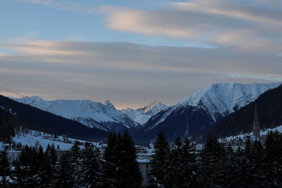 We won't know what the latest mega-trend is until later in the year now that the 2021 gathering of global thought leaders in Davos has been postponed. Image: Simon Dawson, Bloomberg
