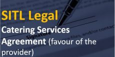 Catering Services Agreement (favour of the provider)
