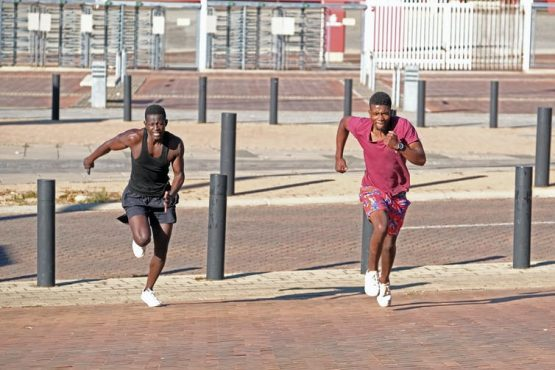 People exercising in Ellis Park in Johannesburg, South Africa. Image: Dino Lloyd/Gallo Images via Getty Images