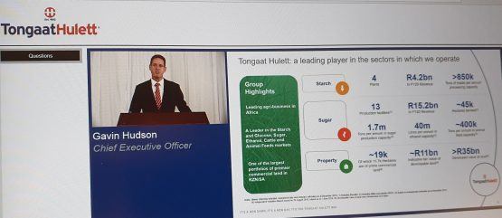 CEO Gavin Hudson, speaking during the presentation of the group's results for the year to the end of March. Image: Suren Naidoo