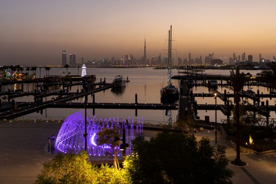 The Burj Khalifa skyscraper, centre, stands above other skyscrapers on the city skyline, seen from Dubai Creek Harbour Development in Dubai. Image: Bloomberg