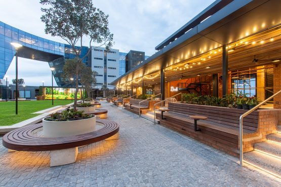 A view of the Legacy Yard outdoor courtyard. Image: Supplied
