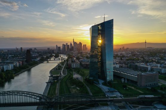 The European Central Bank headquarters on the bank of the River Main, in Frankfurt, Germany. Image: Alex Kraus, Bloomberg