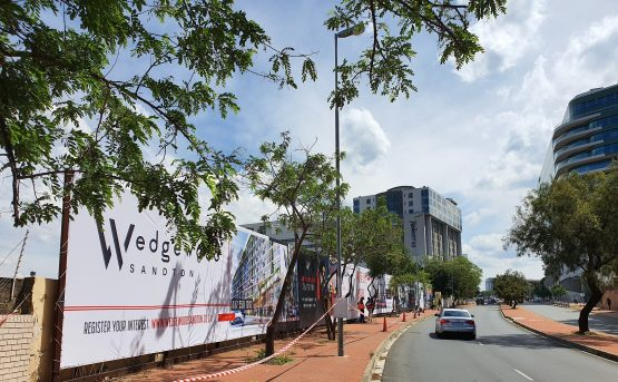 The site that will be home to Balwin's first high-rise residential project. Image: Suren Naidoo, Moneyweb