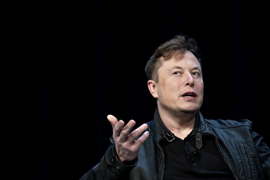 Elon Musk, founder of SpaceX and CEO of Tesla speaks during a discussion at the Satellite 2020 Conference in Washington, DC, US, on Monday, March 9, 2020. Image: Andrew Harrer/Bloomberg