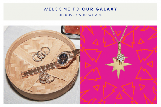 A screenshot of Galaxy & Co's online site, TFG's 'pure play' move in the value jewellery market. Image: Moneyweb