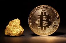 With bitcoin at an all-time high can it overtake gold's market value?