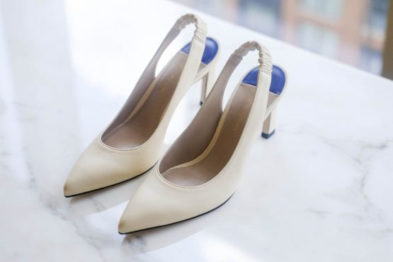 A pair of Stuart Weitzman pumps at the Tapestry office in New York. Image: Evan Ortiz/Bloomberg