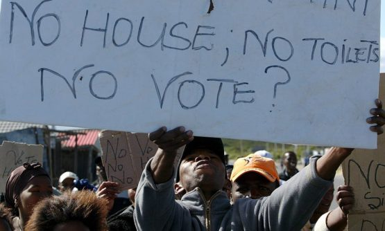 South Africa has seen a sharp rise in protests due to incompetence within its civil service. Image: EFE-EPA/Nic Bothma