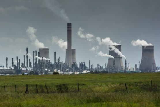 Bye-bye greenhouse gases, as seen at the coal-to-liquids plant in Secunda; renewable energy will be playing a bigger part in the new Sasol. Image: Waldo Swiegers, Bloomberg