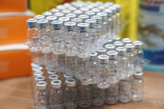 Empty vials of the Sinovac Biotech Ltd. Covid-19 vaccine. Image: Bloomberg