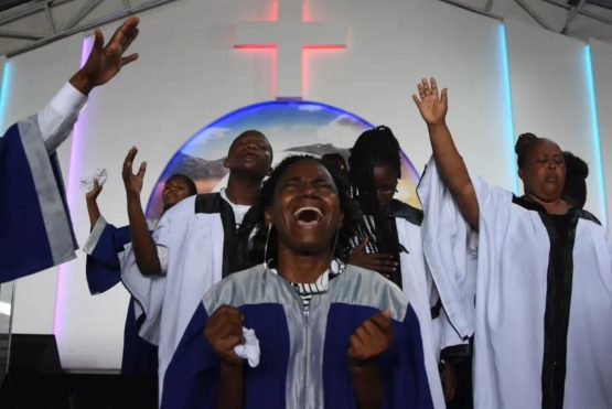 One of Tanzania's approaches to managing the spread of the new coronavirus is through prayer. Image:  STRINGER/AFP via Getty Images