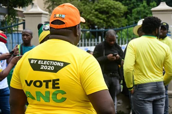 ANC campaigners at voting station in November 2020. Image: by Darren Stewart/Gallo Images via Getty Images