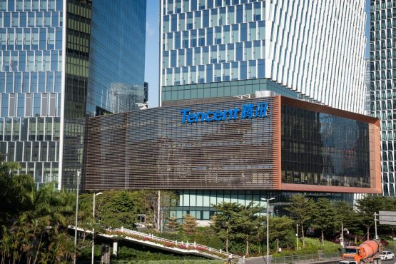 This is the first time since March 2018 Prosus, the single largest shareholder, has sold any Tencent shares. Image: Yan Cong, Bloomberg