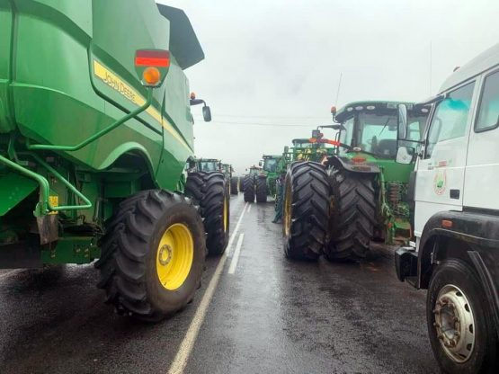 Farmers were among those who blocked roads on Wednesday. Image: Supplied
