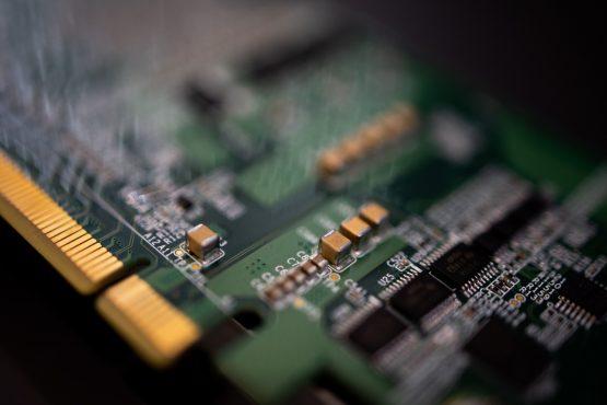 A SK Telecom Co Sapeon X220 AI semiconductor board. Image: SeongJoon Cho/Bloomberg