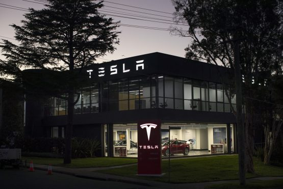 A Tesla Inc. showroom and service center in Sydney. Image: Bloomberg