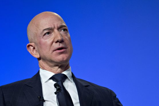 Jeff Bezos, founder and chief executive officer of Amazon.com. Image: Andrew Harrer/Bloomberg