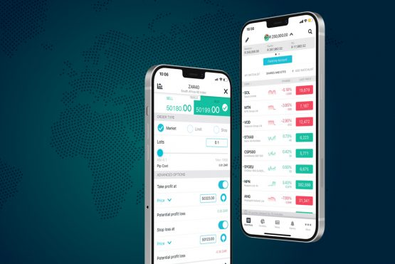 The mobile trading app, ThinkTrader, allows clients to trade and manage their positions from their smart phones. Image: Shutterstock