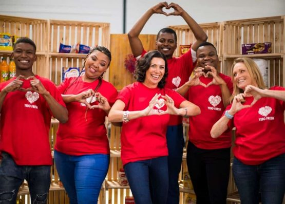 Founder and CEO Jessica Boonstra (centre), with part of the Yebo Fresh team. Image: Supplied
