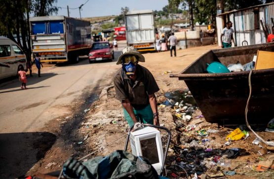 Waste reclaimers do a far more effective job of collecting waste for recycling in Johannesburg. Getty Images