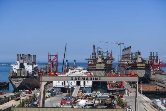 Karpowership company's shipyard with powerships at altinova district, in Yalova.  Image: Ozan Kose/AFP/Getty Images