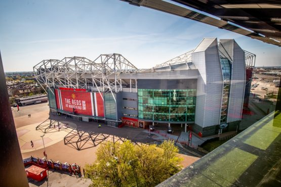 Old Trafford Stadium, the home ground of Manchester United Football Club, in the U.K. Image: Anthony Devlin, Bloomberg