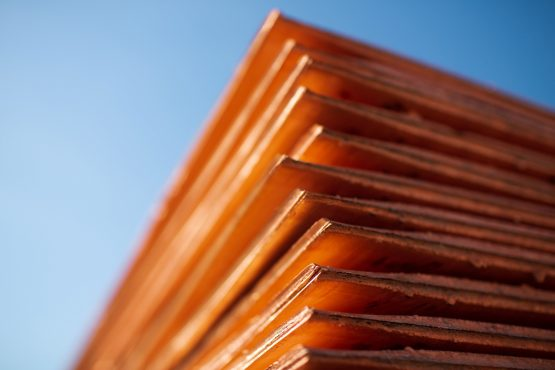 Newly-made copper cathode sheets. Image: Andrey Rudakov, Bloomberg