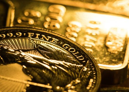 Gold holds near four-week low