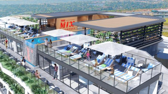 The pool deck of the development will be located on the 14th floor. Image: Supplied